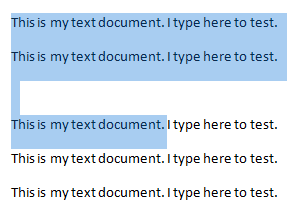 select text horizontally in word