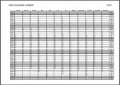 Mini Calendar Planner 2014