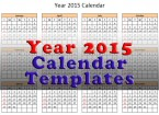 2015 Calendar Template Cover