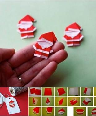 Make Red Santa Claus Origami