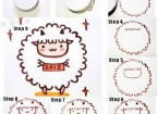 How to draw sheep in year of goat 2015