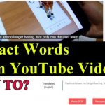 Extract Words from Youtube Video